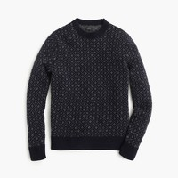 Lambswool sweater in nordic grid