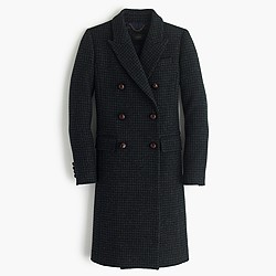 Double-breasted coat in mini-check