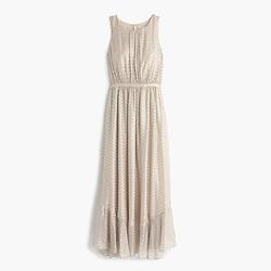 Collection metallic clip-dot dress