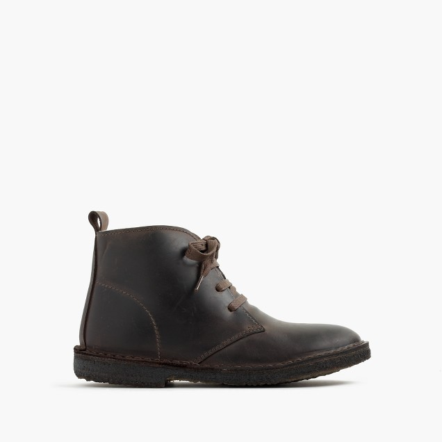 Kids' shearling-lined oiled-leather MacAlister boots