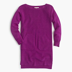 Girls' pocket sweater-dress