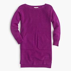 Girls' pocket sweater-dress