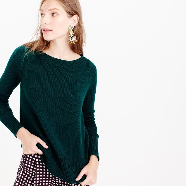 Wool boatneck sweater