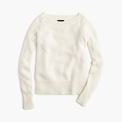 Wool boatneck sweater