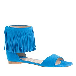 Paul Andrew™ for J.Crew fringe flats