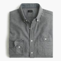 Tall cotton-wool elbow-patch shirt in solid