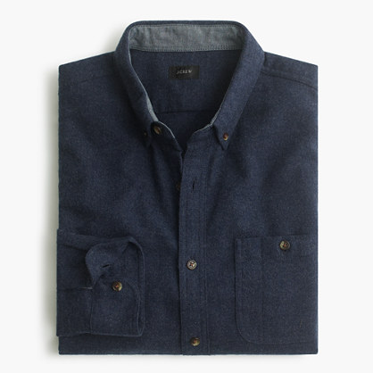 Cotton-wool elbow-patch shirt in solid