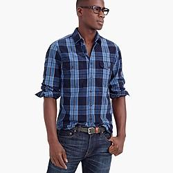 Wallace & Barnes heathered Japanese indigo railworker shirt