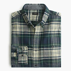 Cotton-wool elbow-patch shirt in midnight plaid