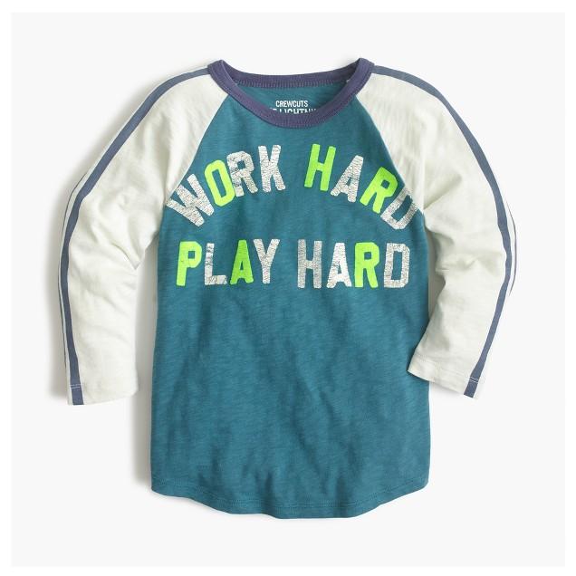 Boys' work hard play hard T-shirt
