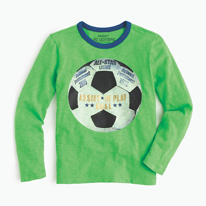 Boys 39 soccer ball t shirt graphic t shirts j crew for Boys soccer t shirts