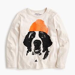 Boys' Saint Bernard long-sleeve T-shirt