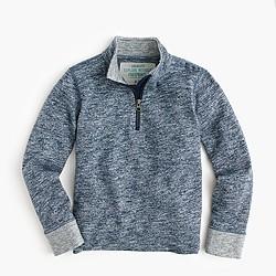 Boys' heathered half-zip sweatshirt