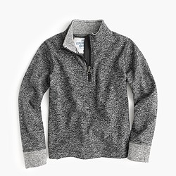 Boys' heathered half-zip sweatshirt