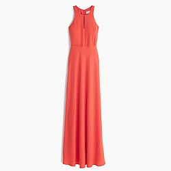 Kendall gown in drapey matte crepe