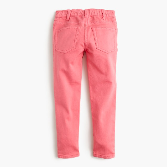 Girls' bright runaround jean