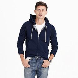 Indigo full-zip hoodie