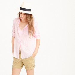 Petite boy shirt in pink skinny stripe