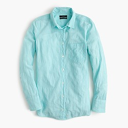 Boy shirt in aqua skinny stripe