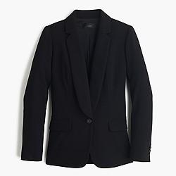 Polished crepe blazer
