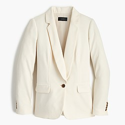 Polished crepe blazer