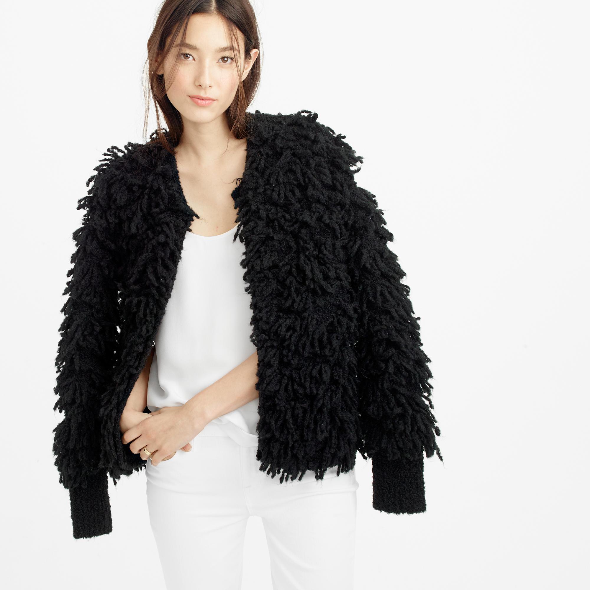 Collection bouclé sweater-jacket : Women Cardigans &amp Shells | J.Crew