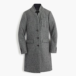 Regent topcoat in grey Donegal wool