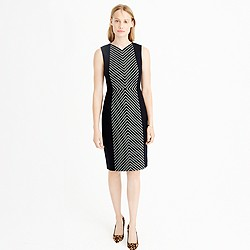 Striped tweed sheath dress