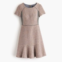 Metallic mixed-tweed dress