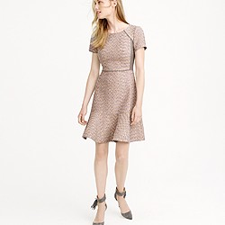 Metallic mixed-tweed dress