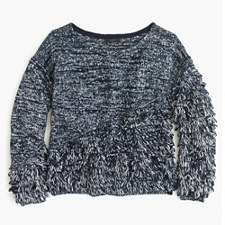 Space-Dyed Fringe Sweater