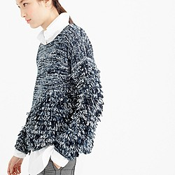 Collection space-dyed fringe sweater