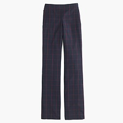 Petite classic full-length pant in windowpane plaid