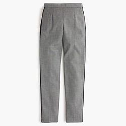 Petite Martie pant with tux stripe in glen plaid