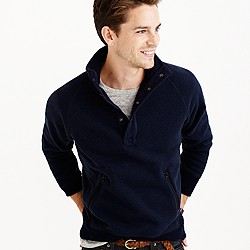 Summit fleece mockneck pullover jacket