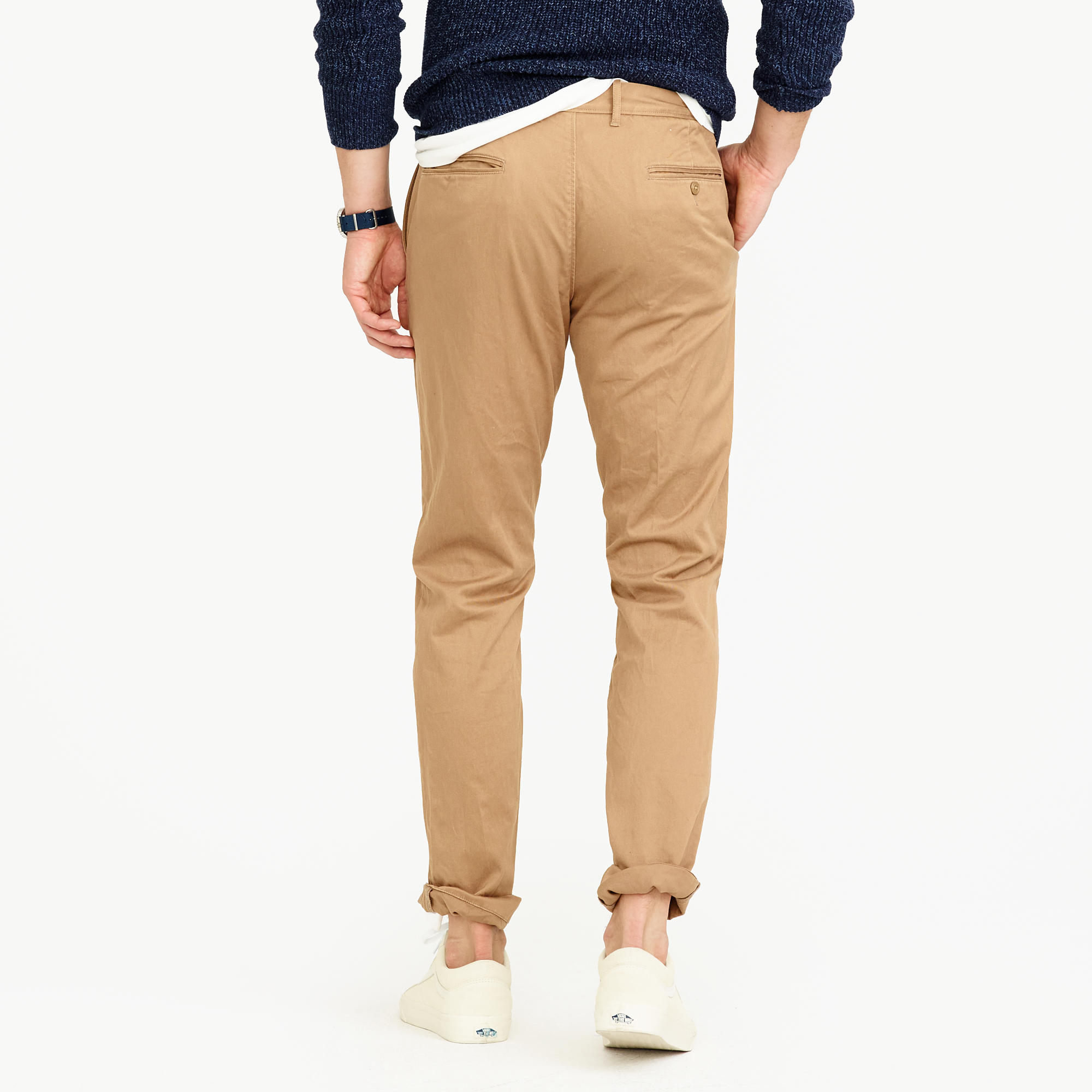 Mens Pleated Chino Pants