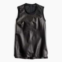 Collection leather tank top