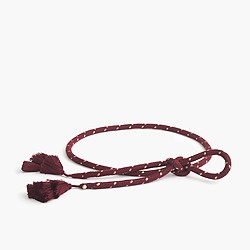 Tassel rope belt