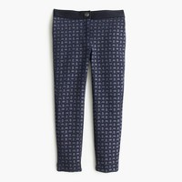 Girls' Pixie pant in glitter paisley