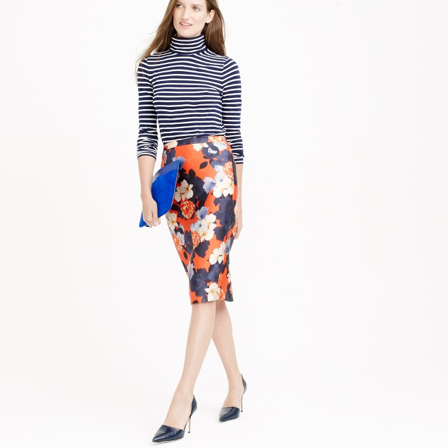 Collection pencil skirt in graphic peony