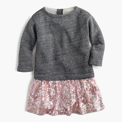 Girls' knit sequin dress