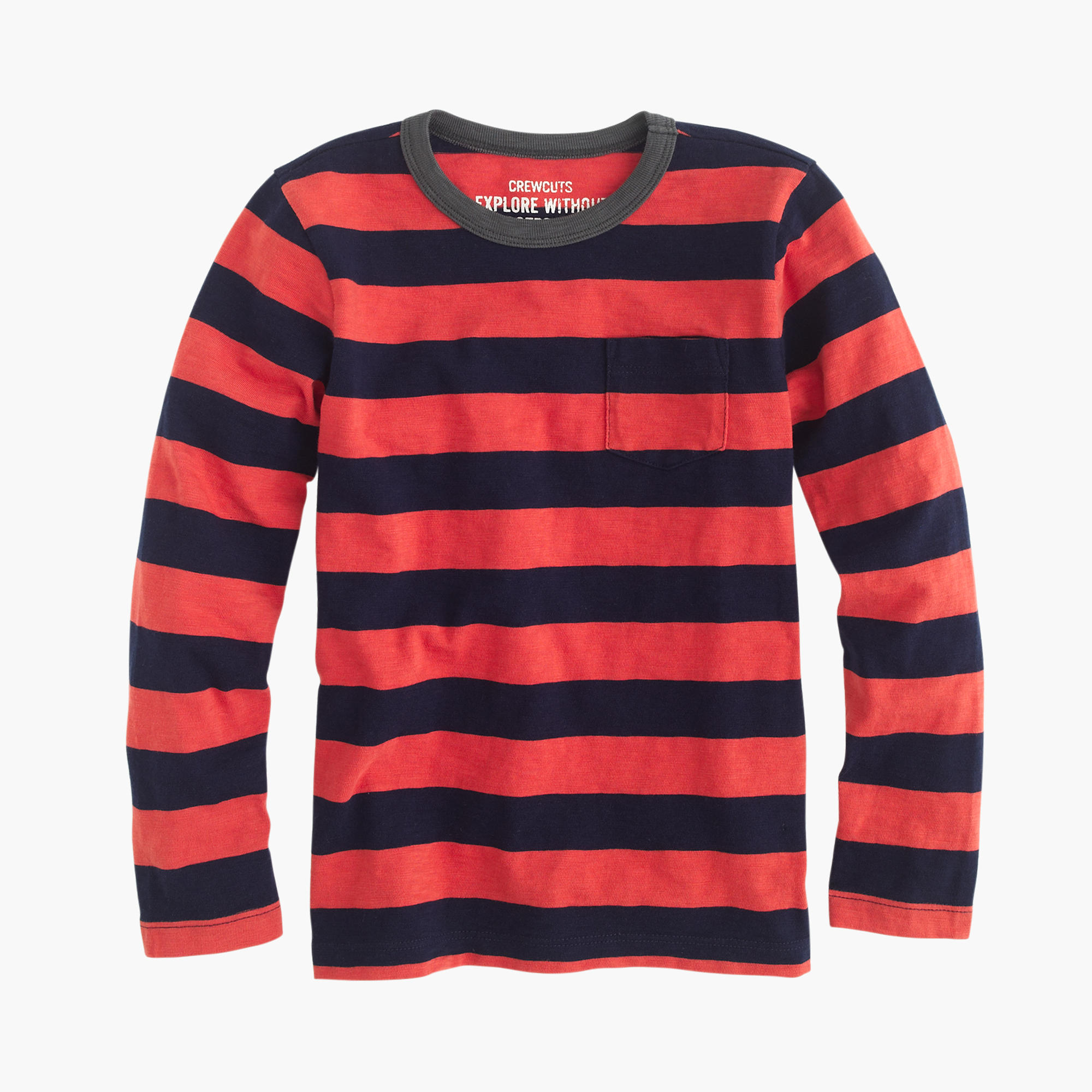 boys 39 long sleeve deck striped pocket t shirt j crew