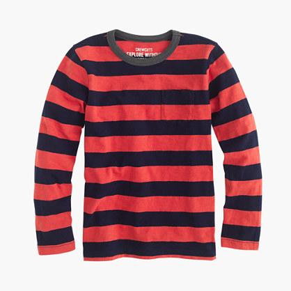 boys 39 long sleeve deck striped pocket t shirt t shirts