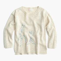 Girls' crystal hi popover sweater