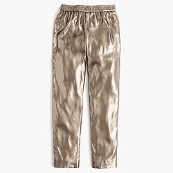 Collection silk lamé pull-on pant