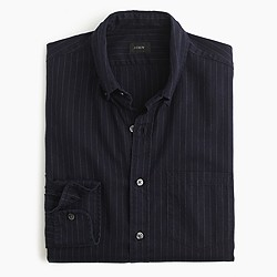 Slim brushed heather twill shirt in pinstripe