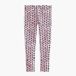 Girls' everyday leggings in ink-drop heart