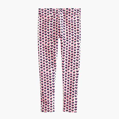 Girls' everyday leggings in ink-drop heart