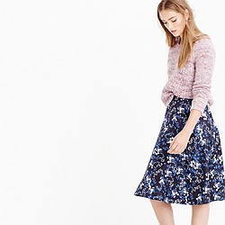Collection A-line skirt in nightfall freesia