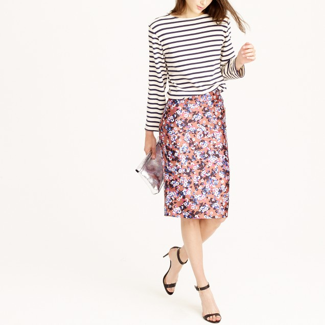 Collection pencil skirt in autumn floral